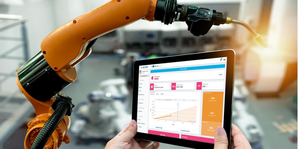 interfaccia software monitoraggio produzione tempo reale